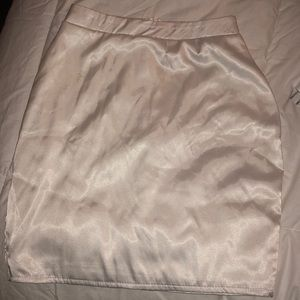 pretty little thing satin skirt